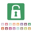 The open lock icon Lock symbol Flat vector image vector image