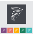 Tornado icon vector image vector image