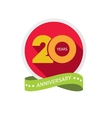 Twenty years anniversary logo 20 year birthday vector image vector image