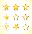 Yellow star logo icon symbol set vector image vector image