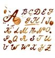 Handwritten font with vector image