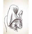 woman vector image