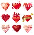 vector set of hearts vector image
