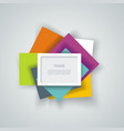 3d frame for business presentations and vector image vector image