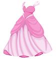 A beautiful pink dress vector image