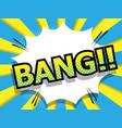 abstract bang comic book pop art vector image