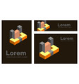 abstract figures set geometric objects vector image