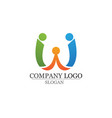 adoption and community care logo template icons vector image vector image