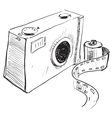 Analogue photo camera icon vector image vector image