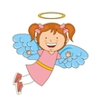 angel girl character icon vector image