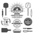 bakery brick oven emblems design elements vector image vector image