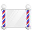 barber shop pole old fashioned vintage vector image