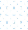 basket icons pattern seamless white background vector image vector image