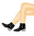 beautiful feminine legs in footwear vector image vector image