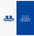 belt box conveyor factory line line and glyph web vector image vector image