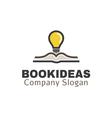 Book Ideas Design vector image vector image