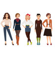 casual fashion for woman vector image vector image