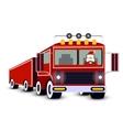 Christmas card Santa Claus driving truck vector image