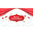 christmas elements hanging with red curtains vector image vector image