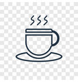 coffee concept linear icon isolated on vector image