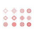 collection of target icons on white background vector image vector image