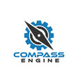 compass engine graphic design template vector image vector image