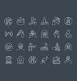 coronavirus prevention thin line icons vector image vector image