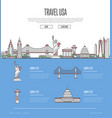 country usa travel vacation guide vector image