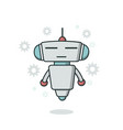 cute outline robot vector image vector image