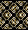 damask vintage seamless pattern decorative vector image