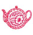 decorative ornament teapot vector image