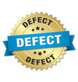 defect round isolated gold badge vector image vector image