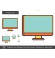 Desktop line icon vector image vector image