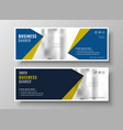 elegant business banners in geometric style vector image vector image