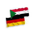 flags sudan and germany on a white background vector image
