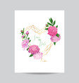 floral wedding invitation template pink peonies vector image vector image