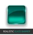 Glass banner for your design vector image vector image
