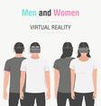Glasses of virtual reality vector image