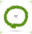 green grass speech bubble vector image