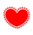 heart paws vector image vector image