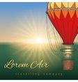 Hot air balloon on blurred background vector image vector image