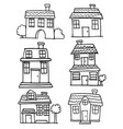 house style collection vector image vector image