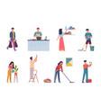 household activities housekeeping chores repair vector image