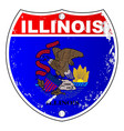 illinois flag icons as interstate sign vector image vector image