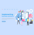 implementing business solution web development vector image vector image