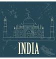 India landmarks Retro styled image vector image vector image