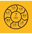 Infographic circle template with 7 steps vector image vector image