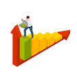 isometric man symbolizes success in business vector image vector image