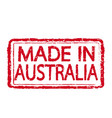 made in australia stamp text vector image vector image