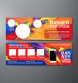 Modern Banner Business Design Template Background vector image vector image